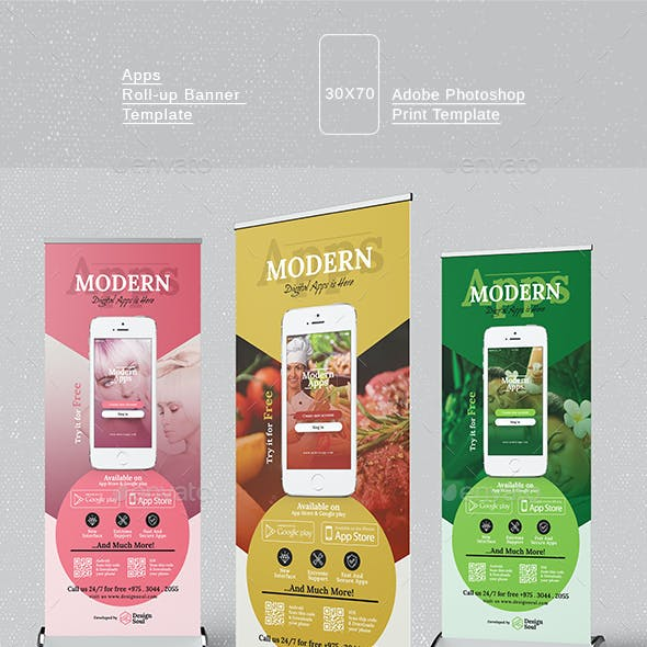 Mobile Apps Roll-up Banner