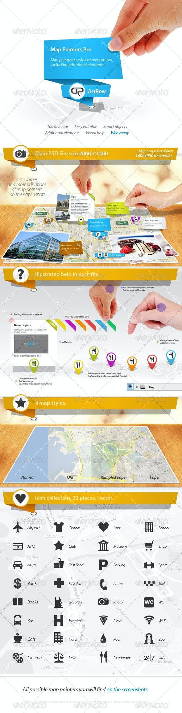 Map Pointers Pro - Web Elements