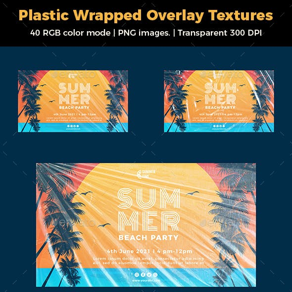 Plastic Wrapped Overlay Textures