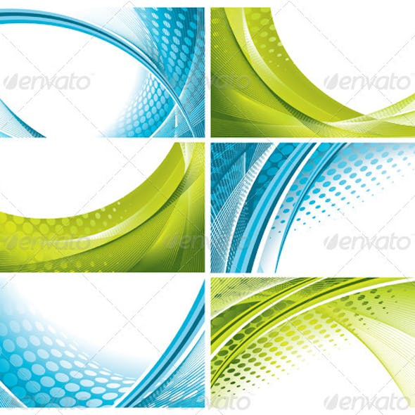 6 Abstract Wavy Backgrounds