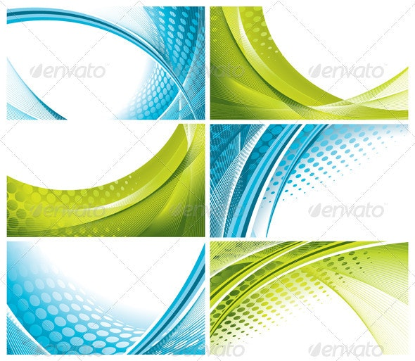 6 Abstract Wavy Backgrounds - Backgrounds Decorative