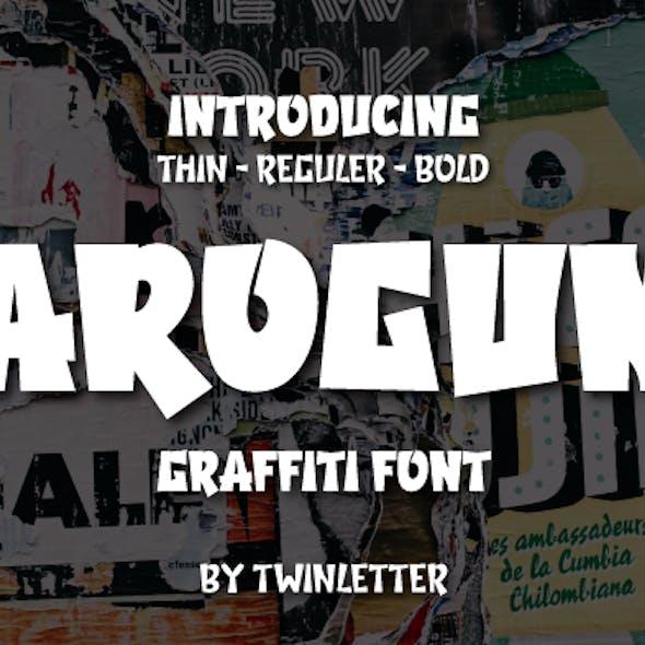 Arogun - Display Graffiti Style Font