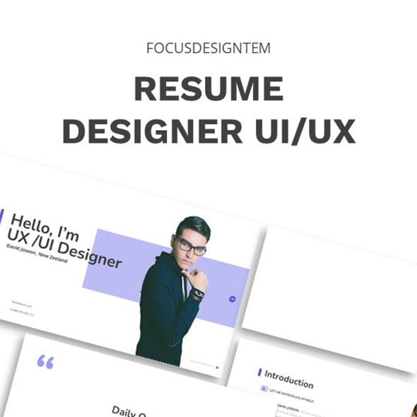 Resume Designer Ui Ux Google Slides Template