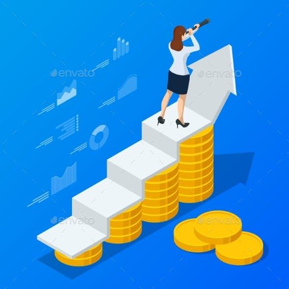 Isometric Concept of Business Analysis Analytics