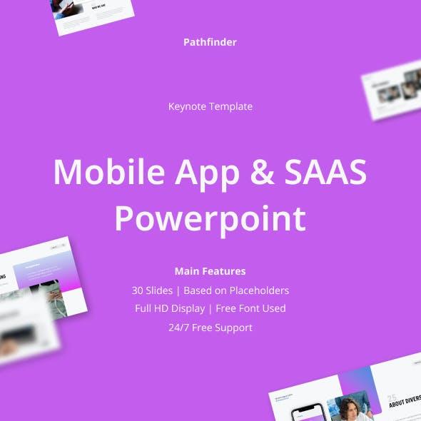 Mobile App & SAAS Keynote Presentation Template