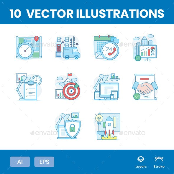 Business Elements -  Illustrations