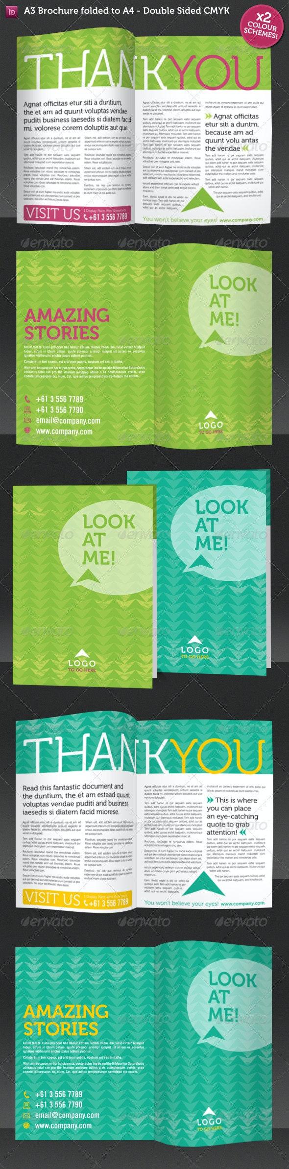 Modern A4 Geometric Patterned Brochure - Informational Brochures