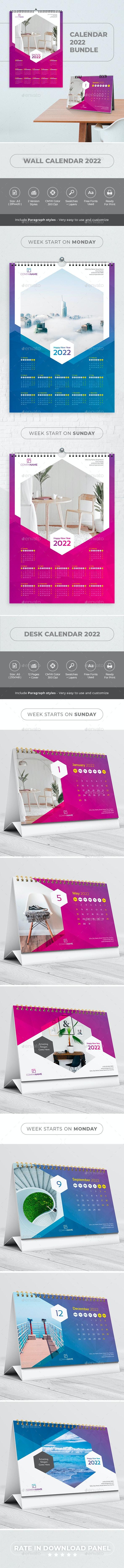 Calendar 2022 Bundle V11 - Calendars Stationery