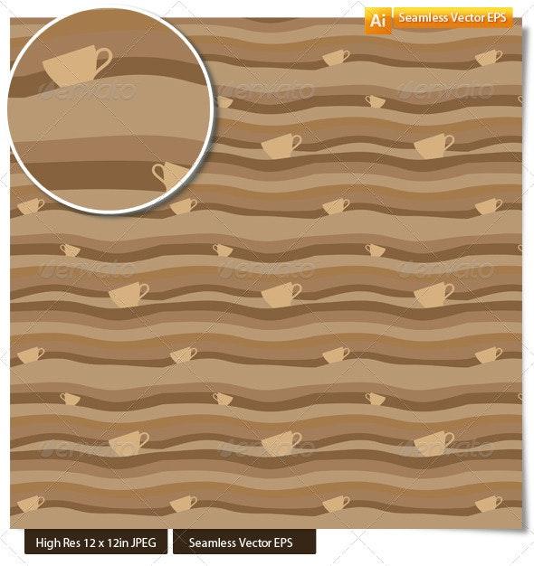 Seamless Pattern of Coffee Waves - Patterns Decorative