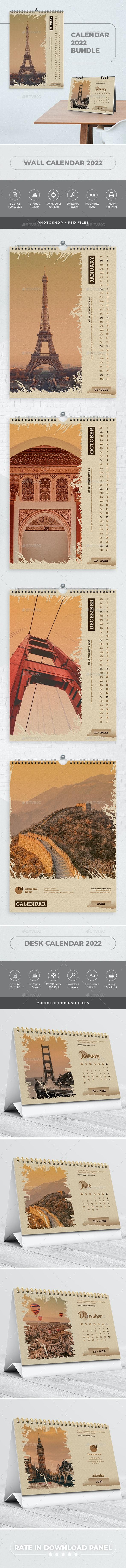 Calendar 2022 Bundle V10 - Calendars Stationery