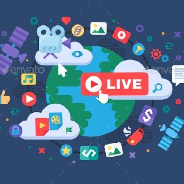 Global News Concept Icon