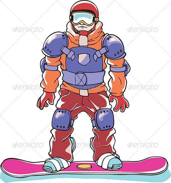 Snowboarder a Body Armor  - Sports/Activity Conceptual
