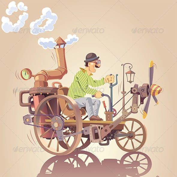 Inventor and his Steam Car