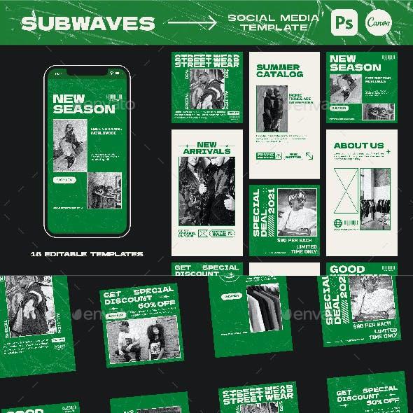 Subwaves Instagram Templates