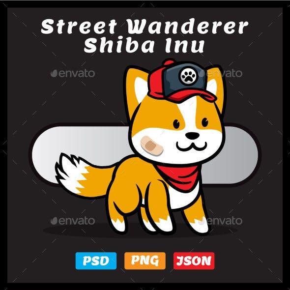 Street Wanderer Shiba Inu Puppy Game Asset