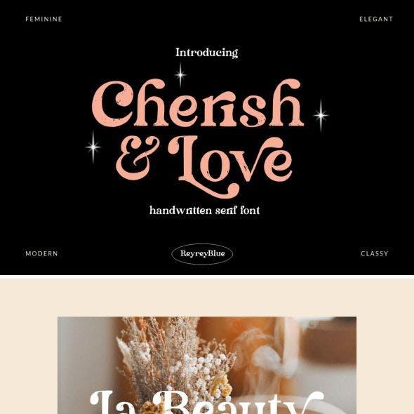 Cherish & Love - Display Serif