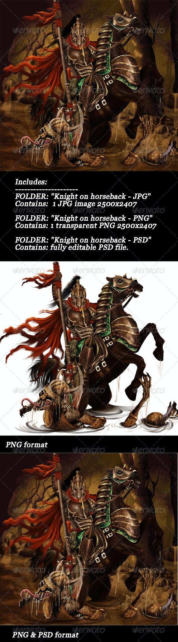Knight On Horseback - Illustrations Graphics
