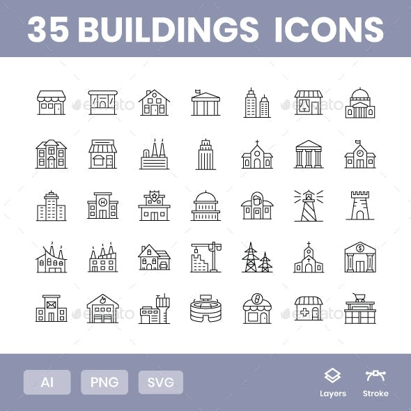 Buildings - Icons Pack