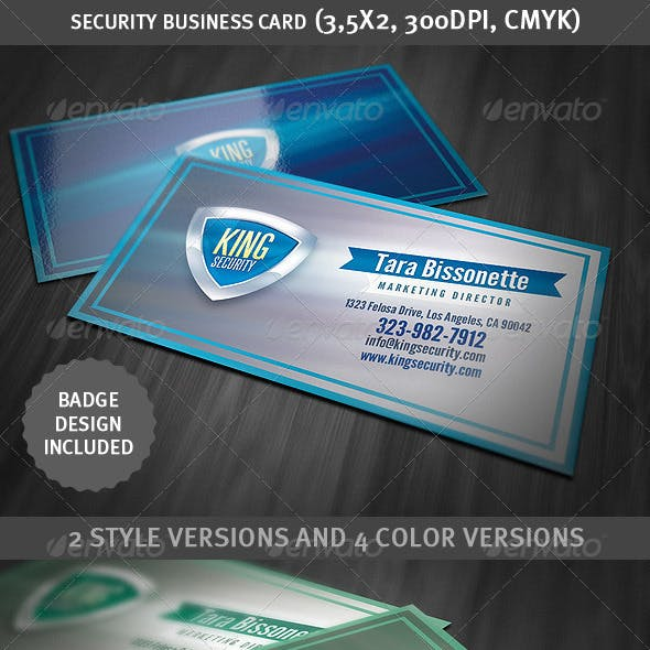 Security Shield Business Card