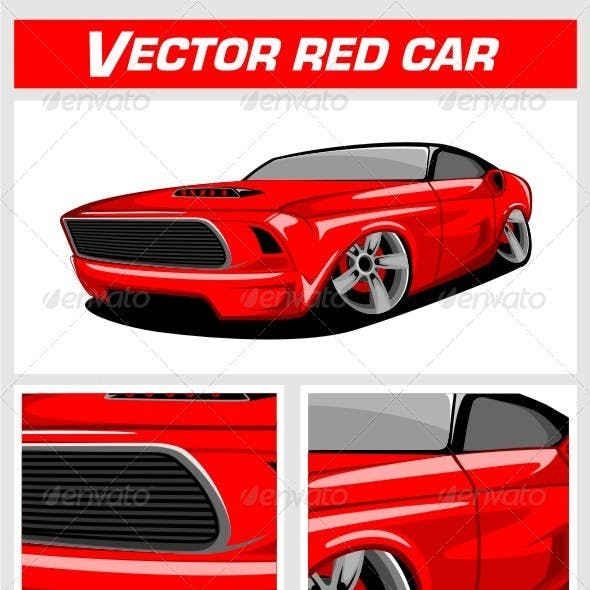 Vector Red Car