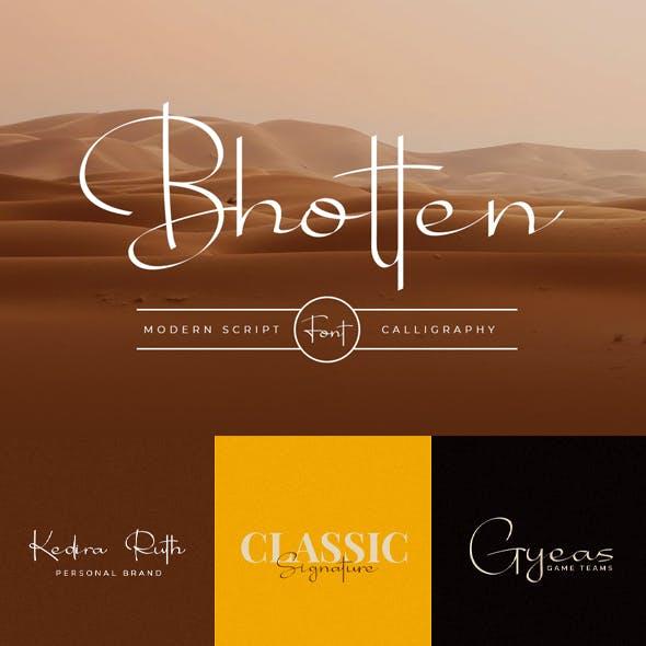 Bhotten Script - Modern Calligraphy Fonts