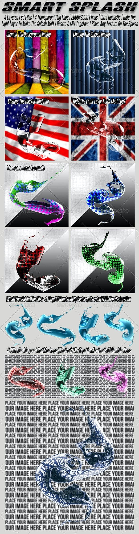Smart Liquid Splash - Miscellaneous 3D Renders