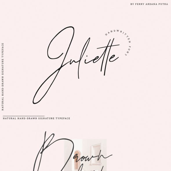 Juliette - Stylish Handwritten Signature Font