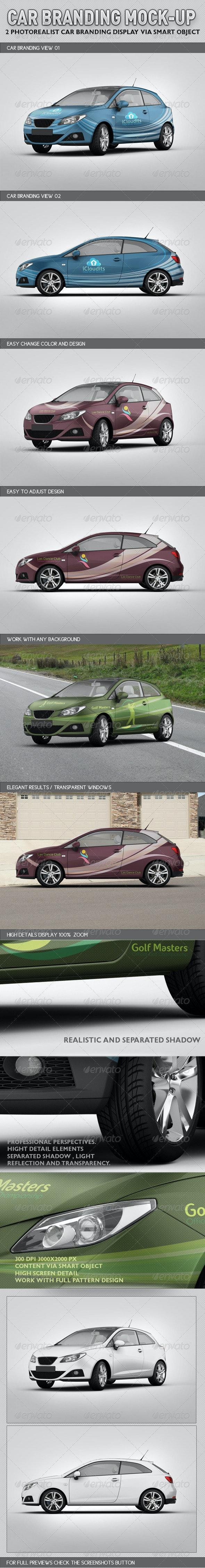 Car Branding Mock-up - Vehicle Wraps Print