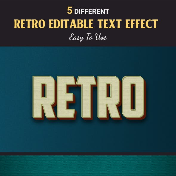 Retro Text Style Effects