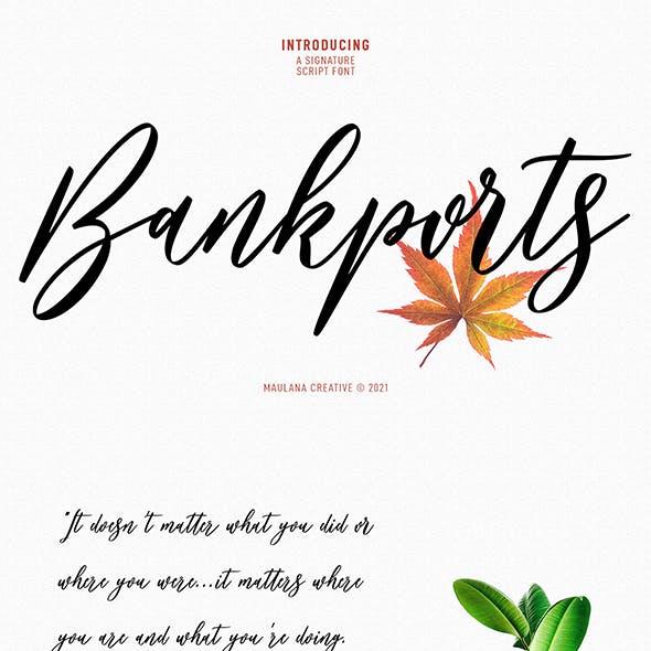 Bankports Signature Sript Font