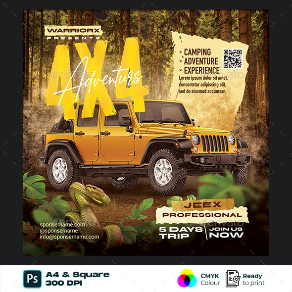 Off Road Flyer Template