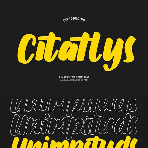 Citatlys Handwritten Script Font