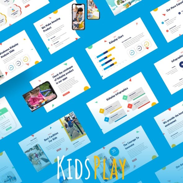 KIDSPLAY - Fun Games & Kids Education Keynote Template