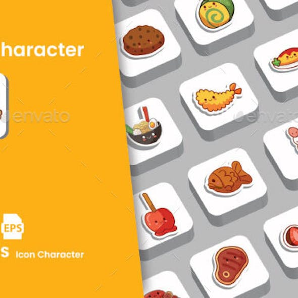 Food icon Character Pack
