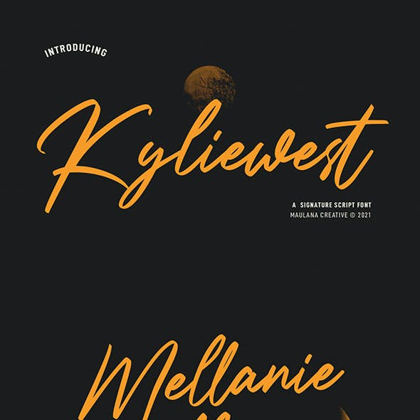 Kyliewest Signature Font