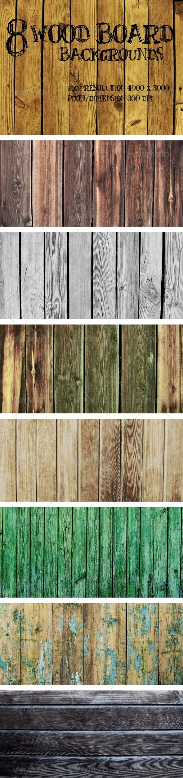 Wood Board Backgrounds - Wood Textures