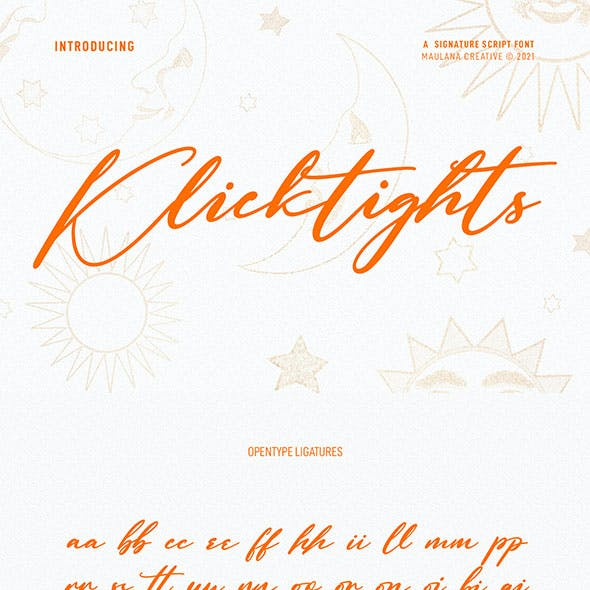 Klicktights Script Font