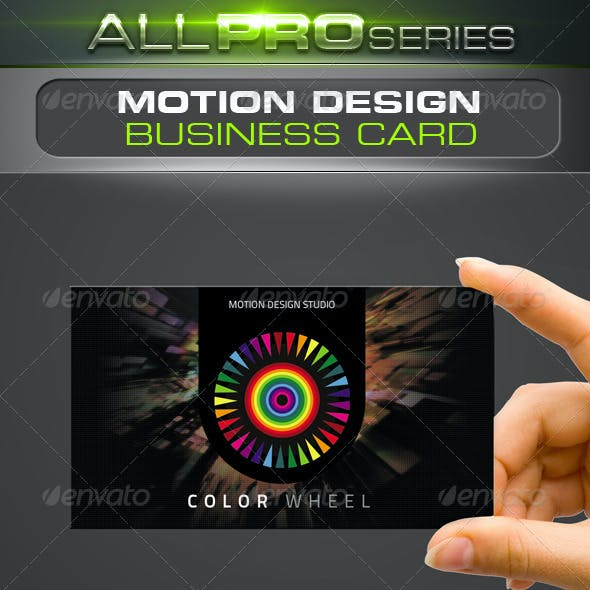 Motion Design Business Card