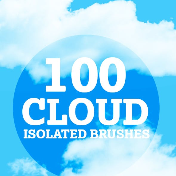 100 isolated Cloud brushes