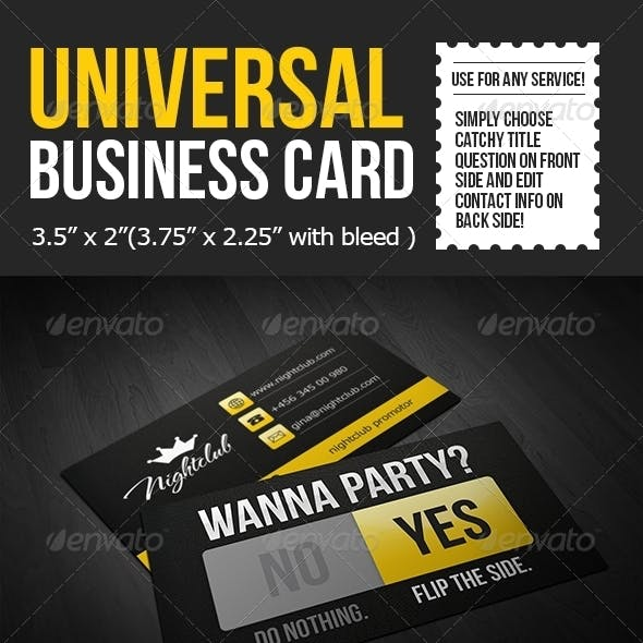 Universal Business Card Template