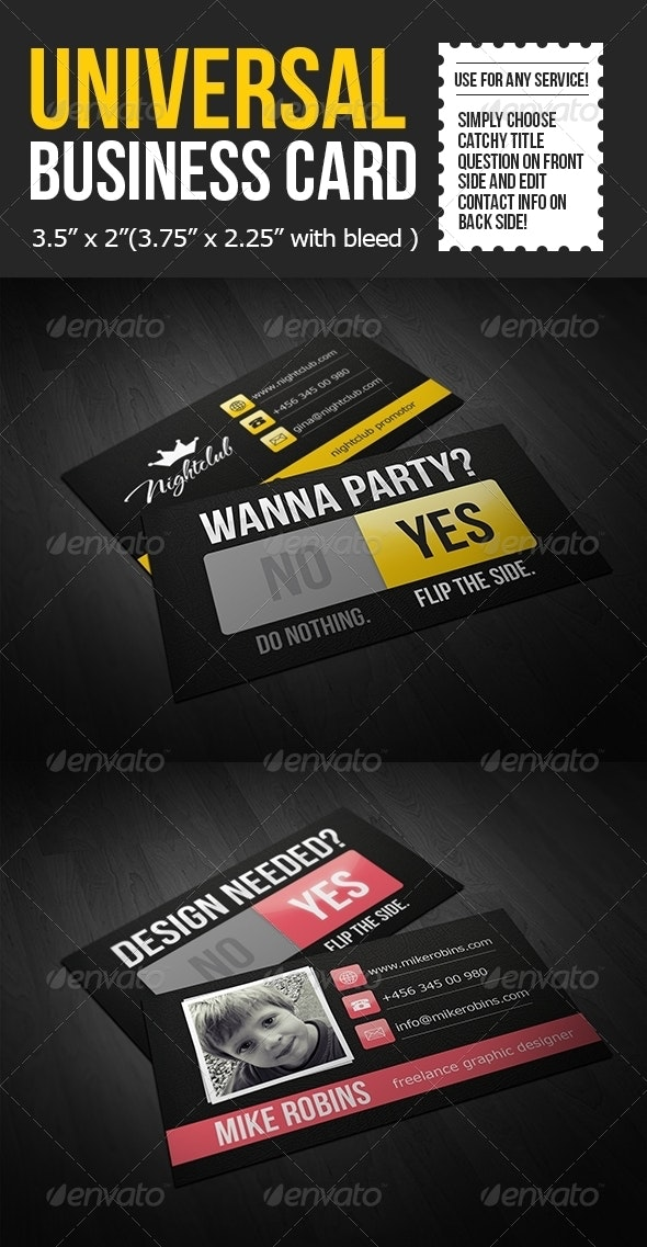 Universal Business Card Template - Creative Business Cards