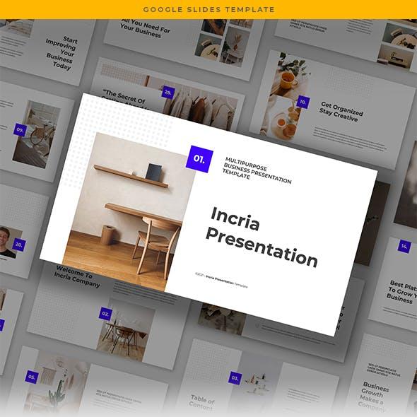 Incria - Minimalist Multipurpose Google Slides Template