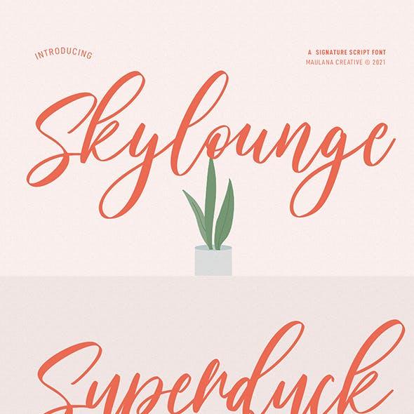 Skylounge Signature Script Font