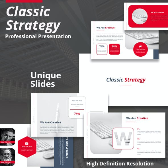 Classic Strategy Powerpoint Template