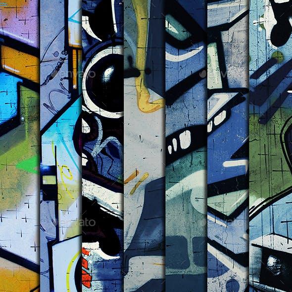 Grunge Urban Art Vertical Backgrounds Textures