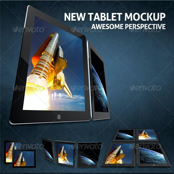 Photorealistic New Tablet Mock-ups
