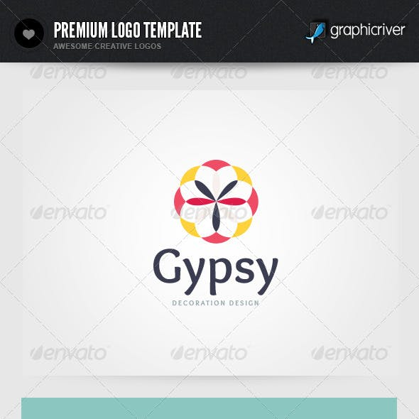 Gypsy Decoration Design Logo