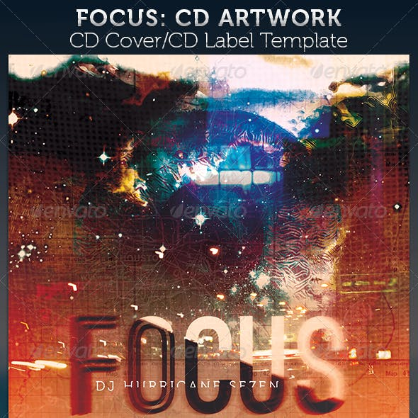 Focus: CD Cover Artwork Template