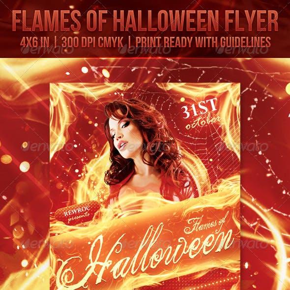 Flames Of Halloween Flyer
