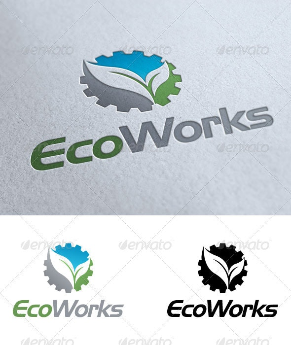 Eco Works - Objects Logo Templates